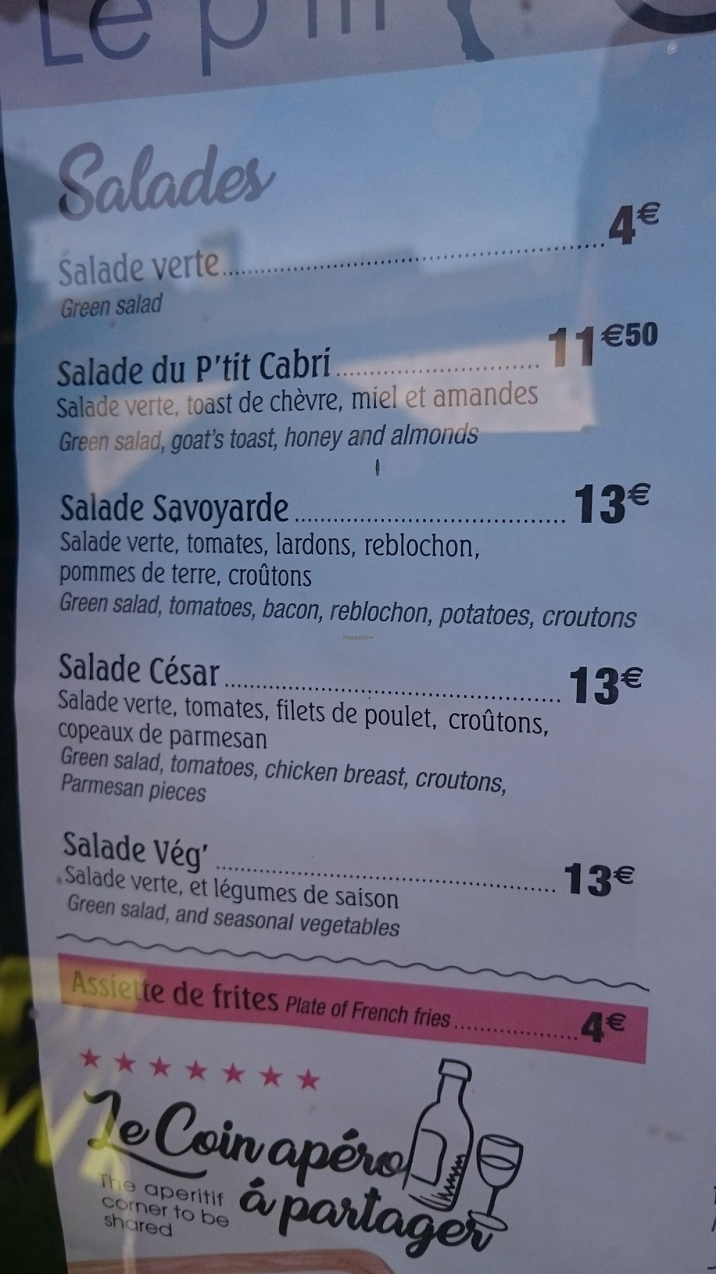 "Photo of Le P'tit Cabri  by <a href=""/members/profile/loloford"">loloford</a> <br/>Salade Veg', the only vegan salad in this restaurant <br/> May 23, 2017  - <a href='/contact/abuse/image/92621/261753'>Report</a>"