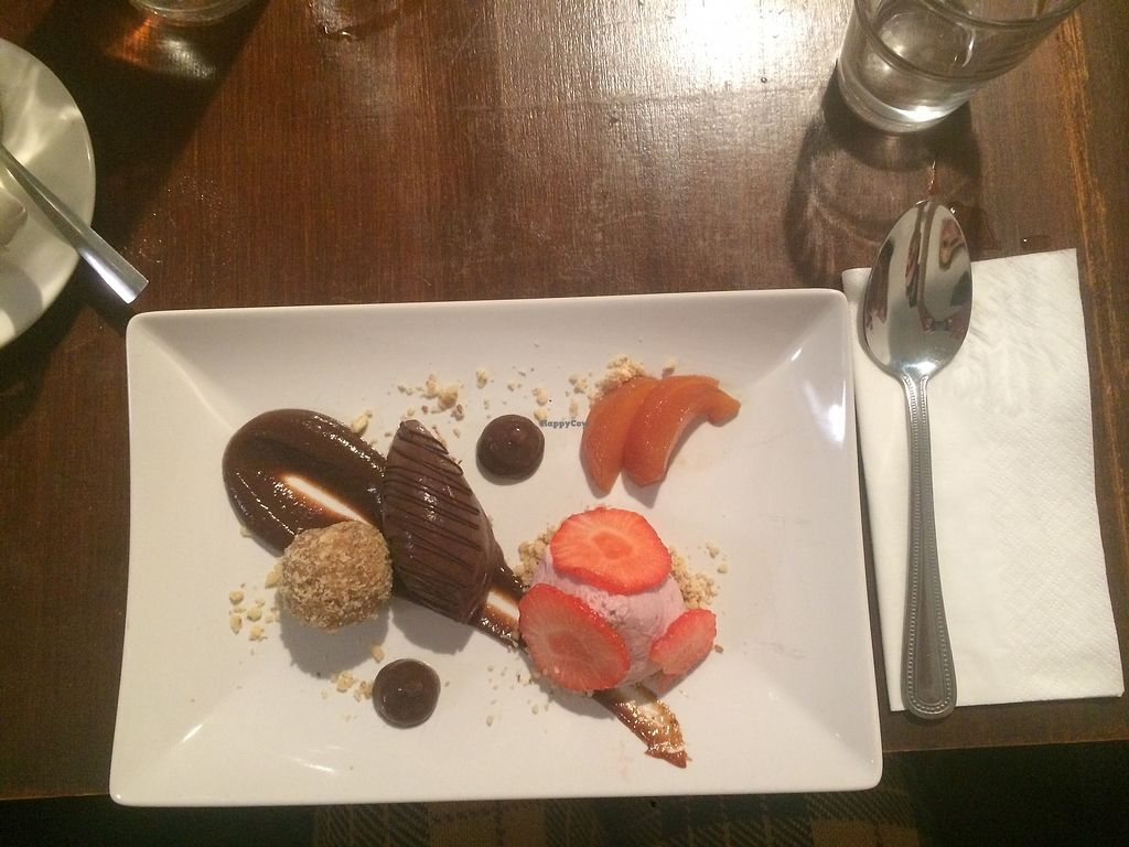 "Photo of Vegan Dublin Food Tour  by <a href=""/members/profile/Jessticles1"">Jessticles1</a> <br/>Chocolate avocado mousse with plum sauce and strawberry ""cheesecake"" style mousse from Sova Vegan Butcher ?? <br/> November 20, 2017  - <a href='/contact/abuse/image/92631/327367'>Report</a>"