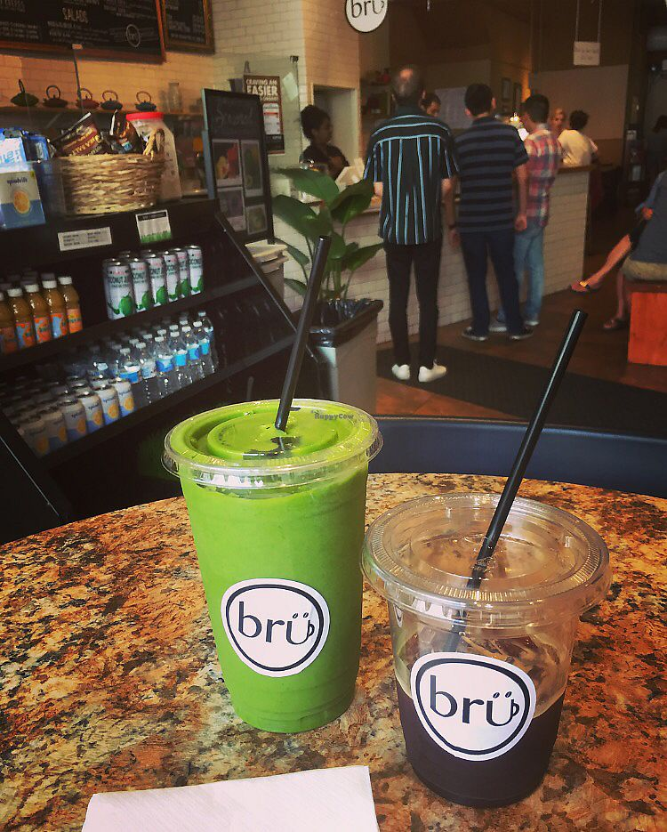 """Photo of Brü Chicago  by <a href=""""/members/profile/happycowgirl"""">happycowgirl</a> <br/>""""Vegan Cup"""" smoothie  <br/> August 15, 2017  - <a href='/contact/abuse/image/92645/293059'>Report</a>"""