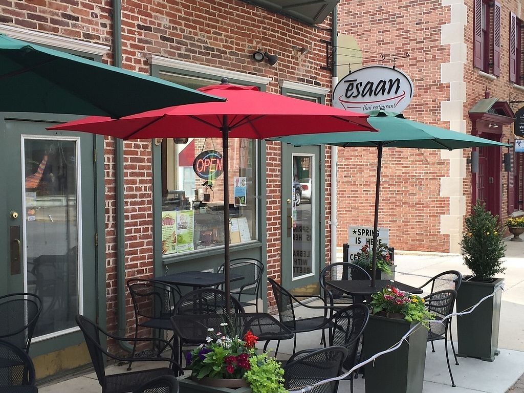 "Photo of Esaan Thai Restaurant  by <a href=""/members/profile/Esaan"">Esaan</a> <br/>outdoor dining <br/> May 23, 2017  - <a href='/contact/abuse/image/92681/261706'>Report</a>"