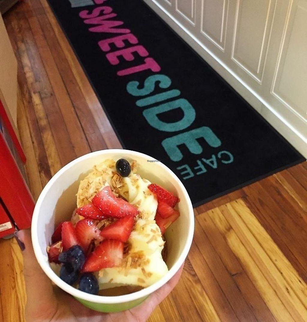 """Photo of SweetSide Cafe  by <a href=""""/members/profile/MeganGriffith"""">MeganGriffith</a> <br/>Vegan soft serve? Yes please! <br/> May 24, 2017  - <a href='/contact/abuse/image/92688/262209'>Report</a>"""