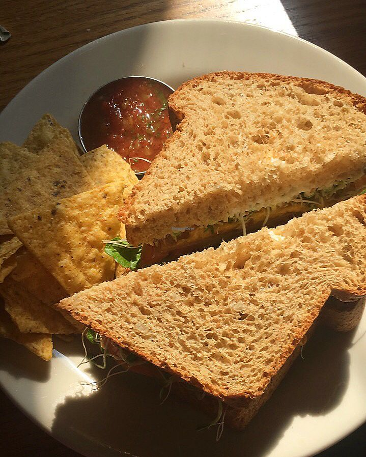 """Photo of Cafe Evolution  by <a href=""""/members/profile/HannahKantor"""">HannahKantor</a> <br/>Fake turkey sandwich. Absolutely delicious  <br/> September 26, 2017  - <a href='/contact/abuse/image/9268/308872'>Report</a>"""