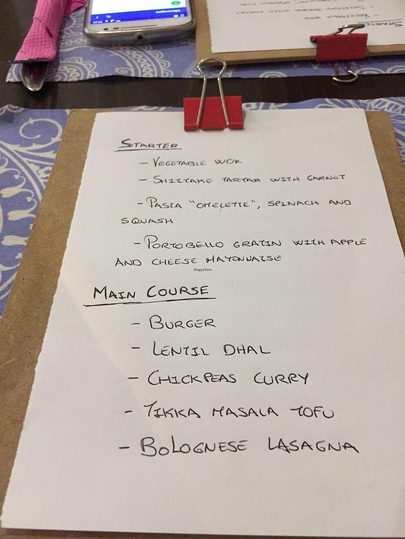"Photo of El Enano Verde  by <a href=""/members/profile/Iamjuliet"">Iamjuliet</a> <br/>Handwritten menu ! Why not ?  <br/> November 1, 2017  - <a href='/contact/abuse/image/92691/320881'>Report</a>"