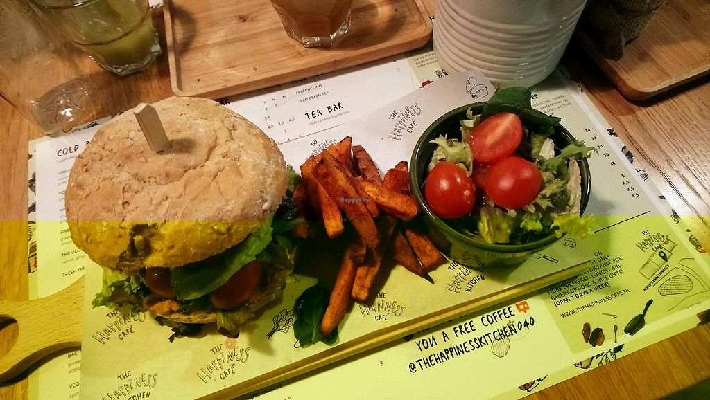 "Photo of The Happiness Kitchen  by <a href=""/members/profile/CetoniaAurata"">CetoniaAurata</a> <br/>Quinoa burger  <br/> March 3, 2018  - <a href='/contact/abuse/image/92700/366127'>Report</a>"