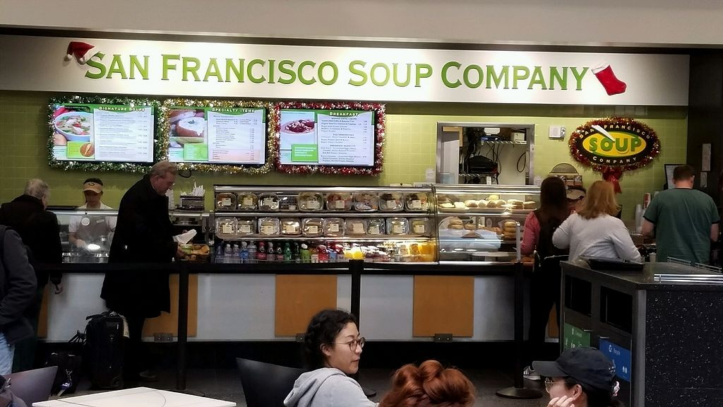 """Photo of SFO - San Francisco Soup Company - T3  by <a href=""""/members/profile/eric"""">eric</a> <br/>location is mid terminal center circle <br/> December 31, 2017  - <a href='/contact/abuse/image/92719/341377'>Report</a>"""