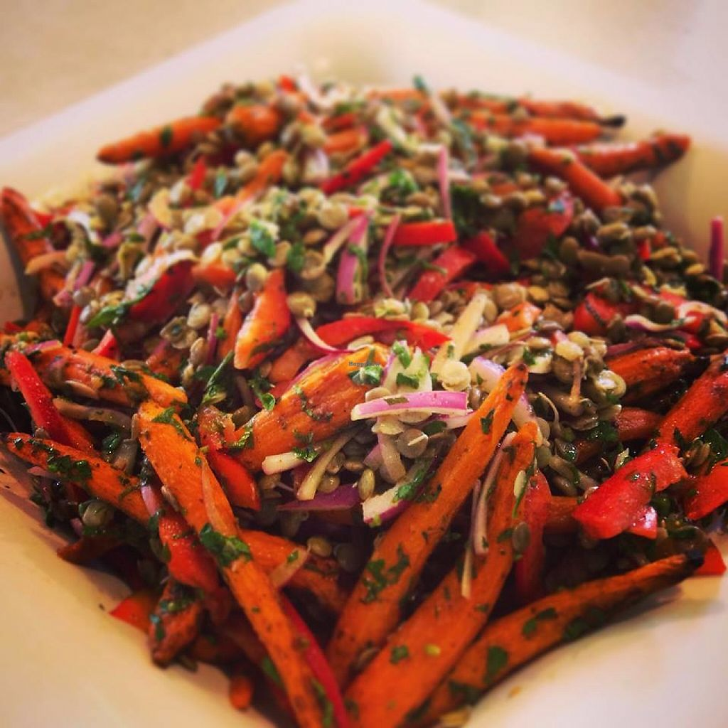 """Photo of Connorlee Bakery and Coffee  by <a href=""""/members/profile/community5"""">community5</a> <br/>Roasted organic baby carrots and sprouted lentils in a Moroccan maple vinaigrette <br/> May 25, 2017  - <a href='/contact/abuse/image/92755/262506'>Report</a>"""