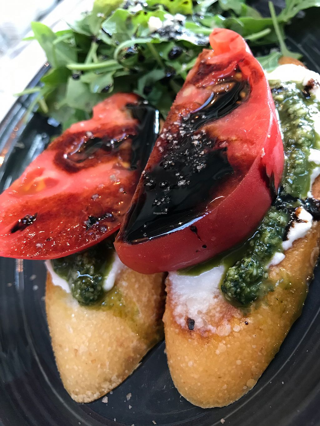 """Photo of Cafe Gratitude  by <a href=""""/members/profile/AndrewJohnHarrison"""">AndrewJohnHarrison</a> <br/>Bruschetta  <br/> September 6, 2017  - <a href='/contact/abuse/image/92756/301438'>Report</a>"""