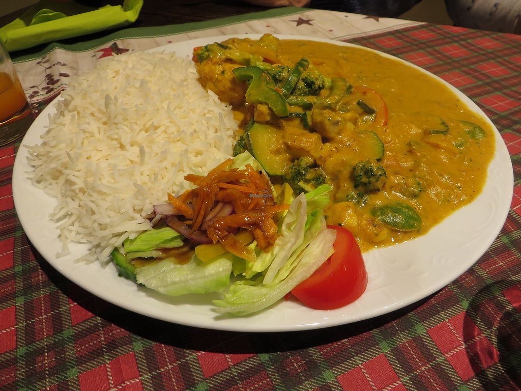 """Photo of Veggie House  by <a href=""""/members/profile/VegiAnna"""">VegiAnna</a> <br/>No. 155 """"Veggie Curry"""" (vegan) <br/> December 26, 2017  - <a href='/contact/abuse/image/92758/339174'>Report</a>"""