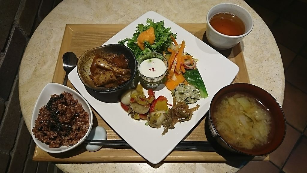 """Photo of Sarasya Shinsen Chaen  by <a href=""""/members/profile/moka_a"""">moka_a</a> <br/>Fermented Brown Rice Lunch ¥1000 with Miso Soup +¥100. Rice is cooked according to Nagaoka style. Another serving of rice is available for extra ¥200 <br/> May 26, 2017  - <a href='/contact/abuse/image/92764/262616'>Report</a>"""