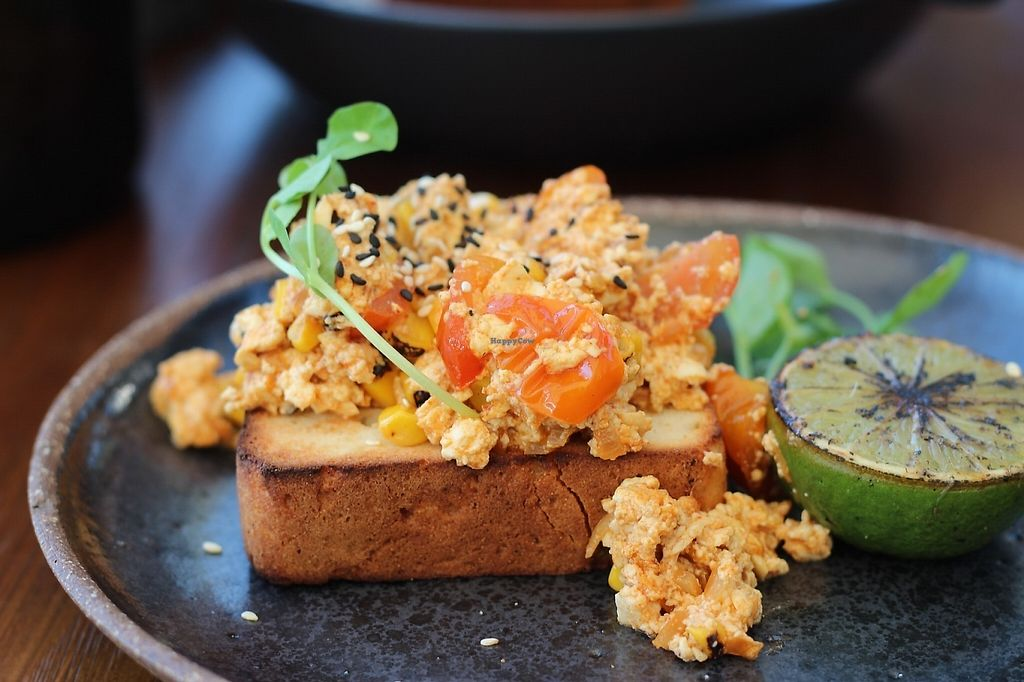 "Photo of Cafe Diversity  by <a href=""/members/profile/The%20Kind%20Cook"">The Kind Cook</a> <br/>Korean Kimchi Tofu Scramble with toasted sesame seeds, charred lime <br/> May 25, 2017  - <a href='/contact/abuse/image/92765/262214'>Report</a>"