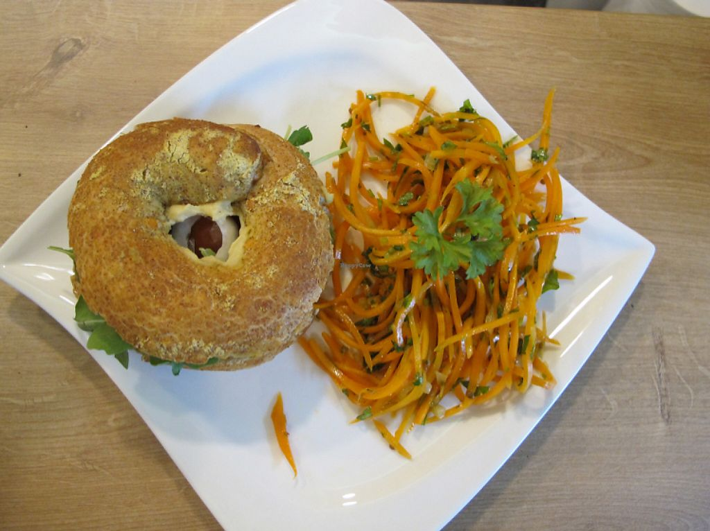 """Photo of Elmira  by <a href=""""/members/profile/Josef"""">Josef</a> <br/>organic power-protein bagel <br/> May 26, 2017  - <a href='/contact/abuse/image/92771/262611'>Report</a>"""
