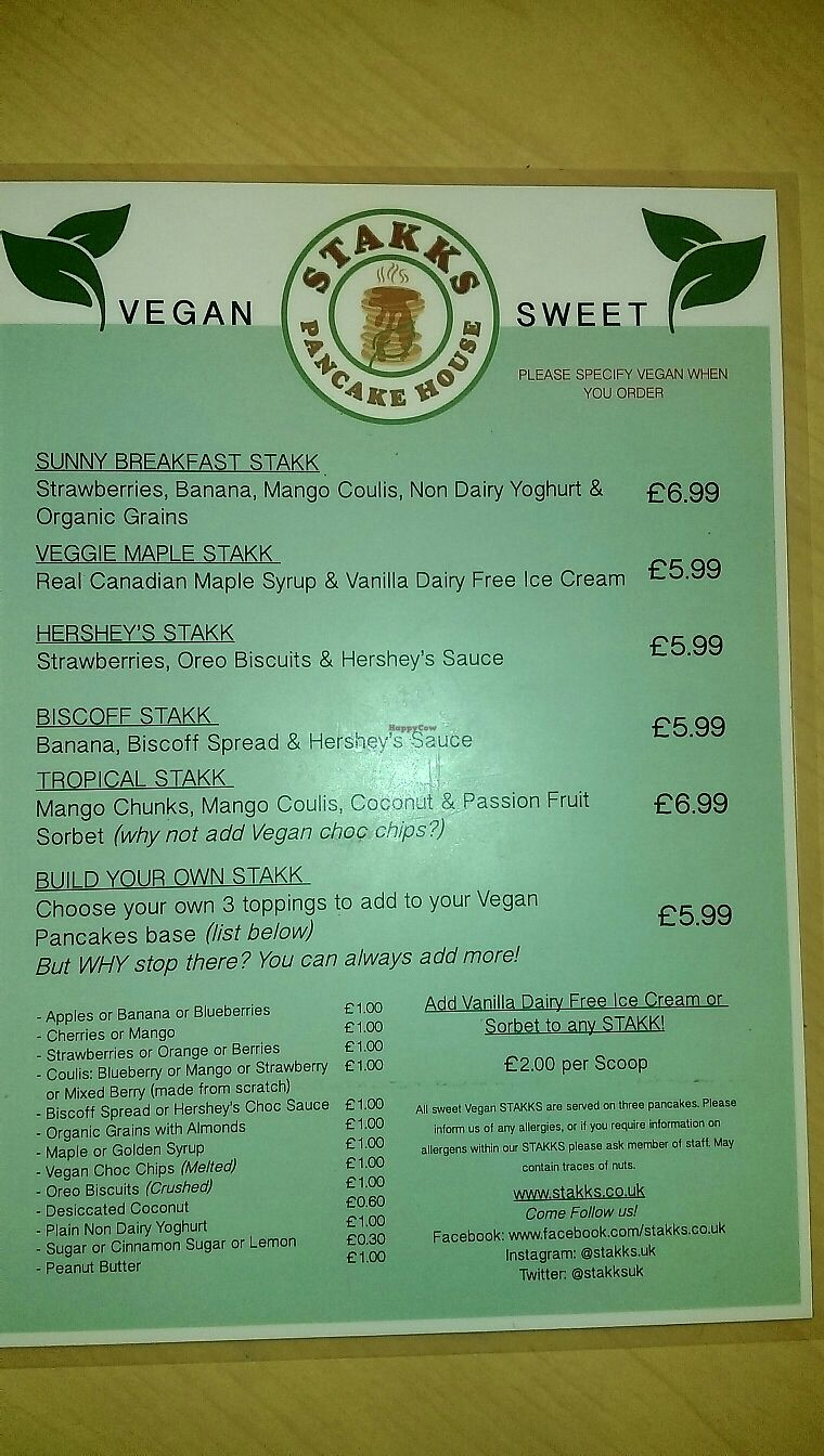 """Photo of Stakks Pancake House  by <a href=""""/members/profile/Coconut2"""">Coconut2</a> <br/>Menu Sweet <br/> June 29, 2017  - <a href='/contact/abuse/image/92772/274944'>Report</a>"""
