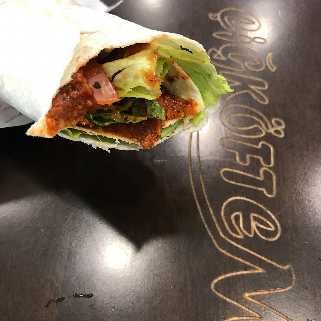 """Photo of Cigkoftem  by <a href=""""/members/profile/The%20London%20Vegan"""">The London Vegan</a> <br/>Vegan durum wrap  <br/> December 30, 2017  - <a href='/contact/abuse/image/92773/340803'>Report</a>"""