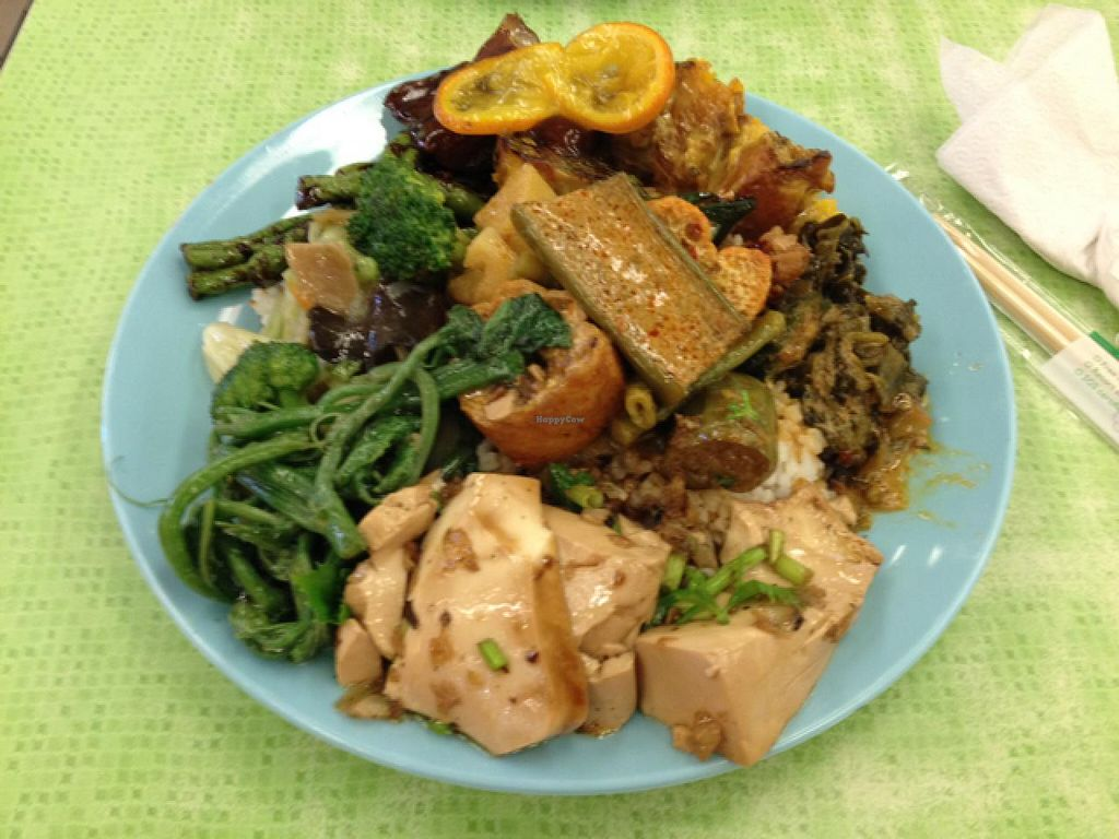 "Photo of Liew Chai Vegetarian  by <a href=""/members/profile/chapstick"">chapstick</a> <br/>mixed rice plate including laksa, tofu & veg dishes <br/> June 29, 2015  - <a href='/contact/abuse/image/9279/107603'>Report</a>"