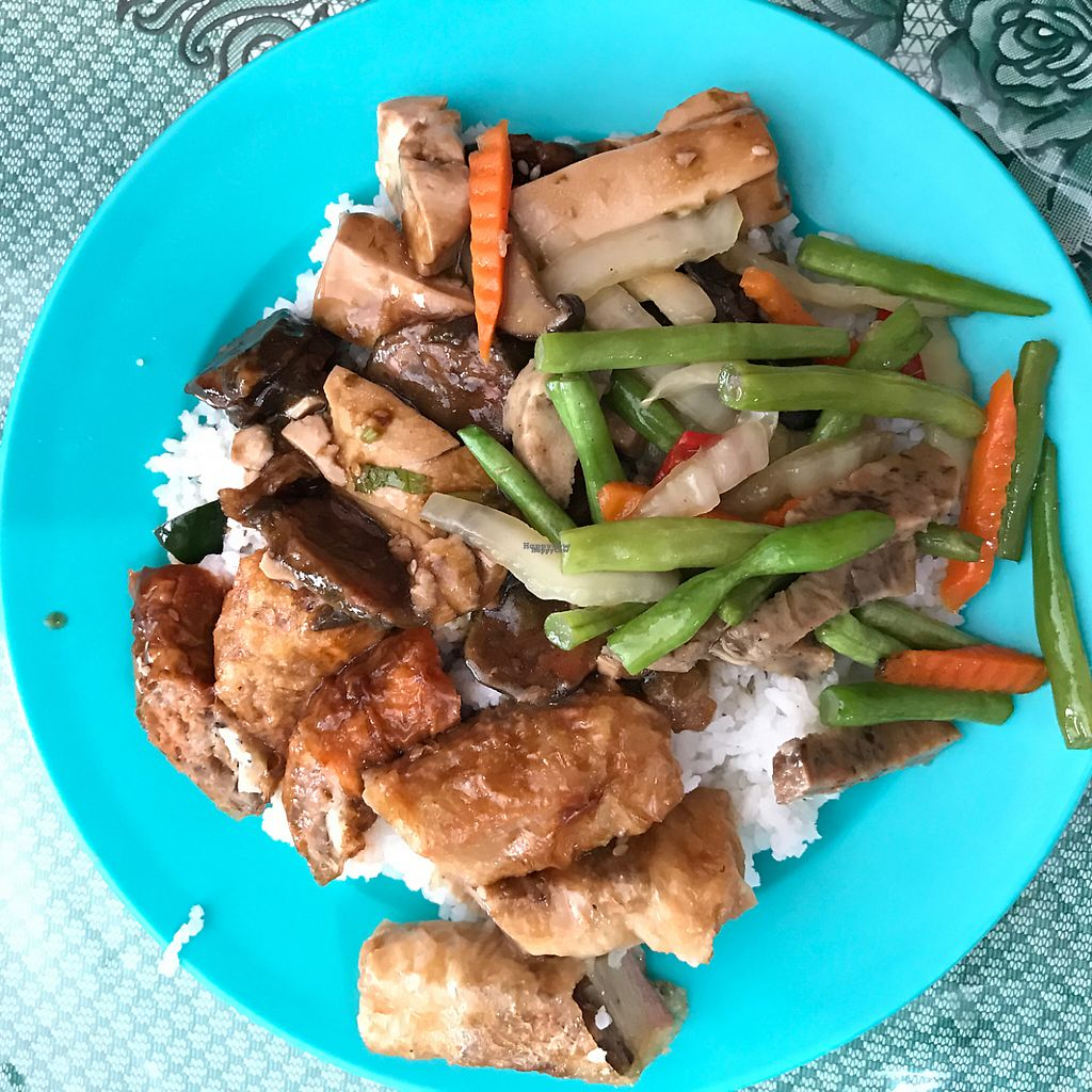"""Photo of Nature Vegetarian  by <a href=""""/members/profile/earthville"""">earthville</a> <br/>economy rice plate 2 <br/> February 10, 2017  - <a href='/contact/abuse/image/9283/224940'>Report</a>"""