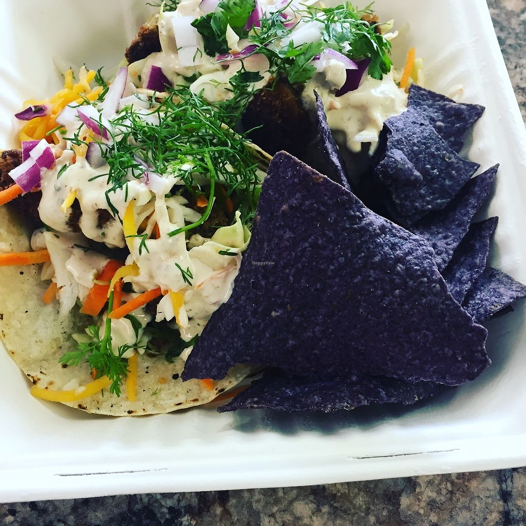 """Photo of Clean Roots Vegetarian Cuisine  by <a href=""""/members/profile/JanLandis"""">JanLandis</a> <br/>Dos Tostadas  <br/> August 4, 2017  - <a href='/contact/abuse/image/92842/288443'>Report</a>"""
