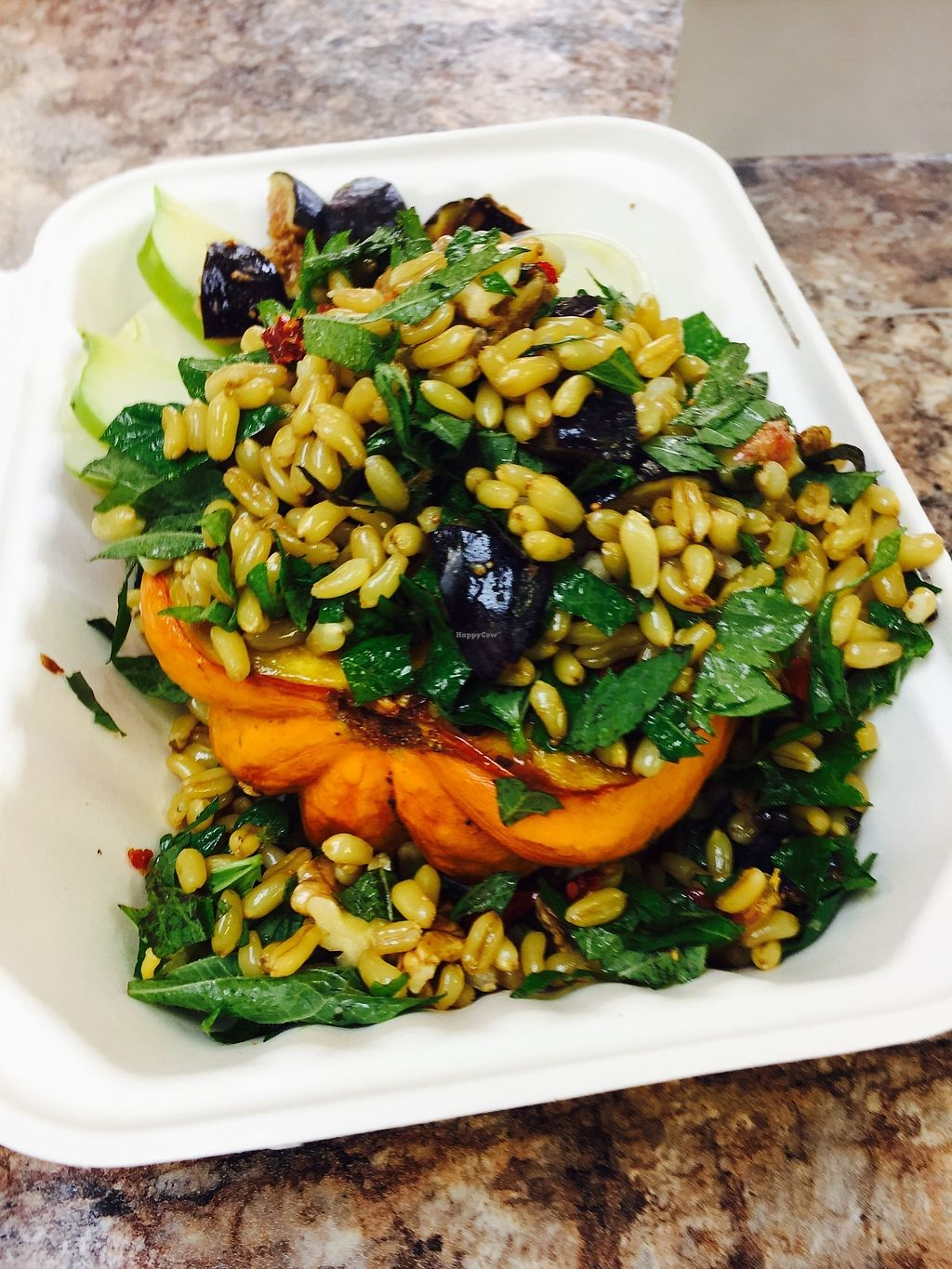 """Photo of Clean Roots Vegetarian Cuisine  by <a href=""""/members/profile/JanLandis"""">JanLandis</a> <br/>Acorn squash salad <br/> August 4, 2017  - <a href='/contact/abuse/image/92842/288445'>Report</a>"""