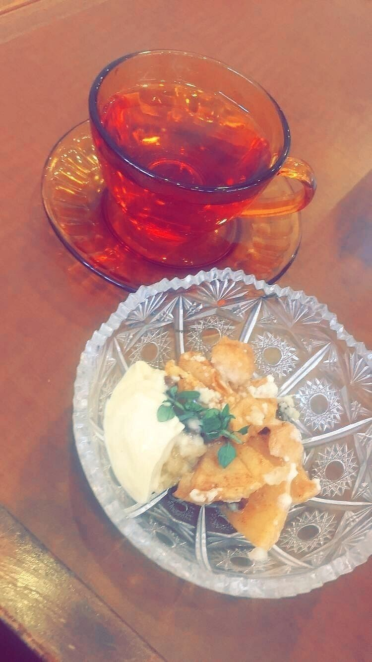"""Photo of Thallo  by <a href=""""/members/profile/digitalmimi"""">digitalmimi</a> <br/>Apple crumble and herbal tea <br/> June 25, 2017  - <a href='/contact/abuse/image/92848/273211'>Report</a>"""