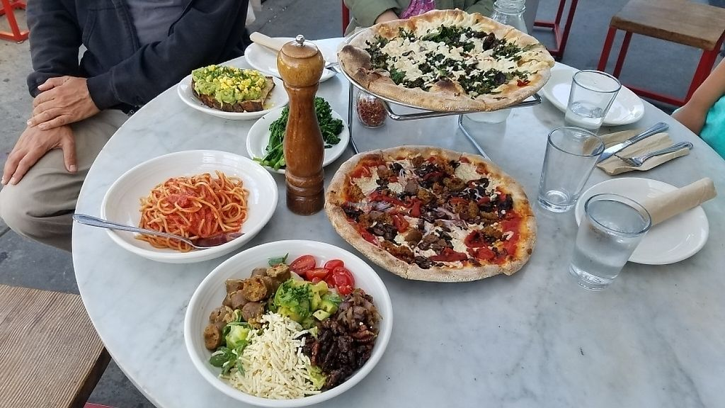 """Photo of Pitfire Pizza - Mar Vista  by <a href=""""/members/profile/kenvegan"""">kenvegan</a> <br/>vegan pizza and vegan food <br/> May 26, 2017  - <a href='/contact/abuse/image/92850/262675'>Report</a>"""