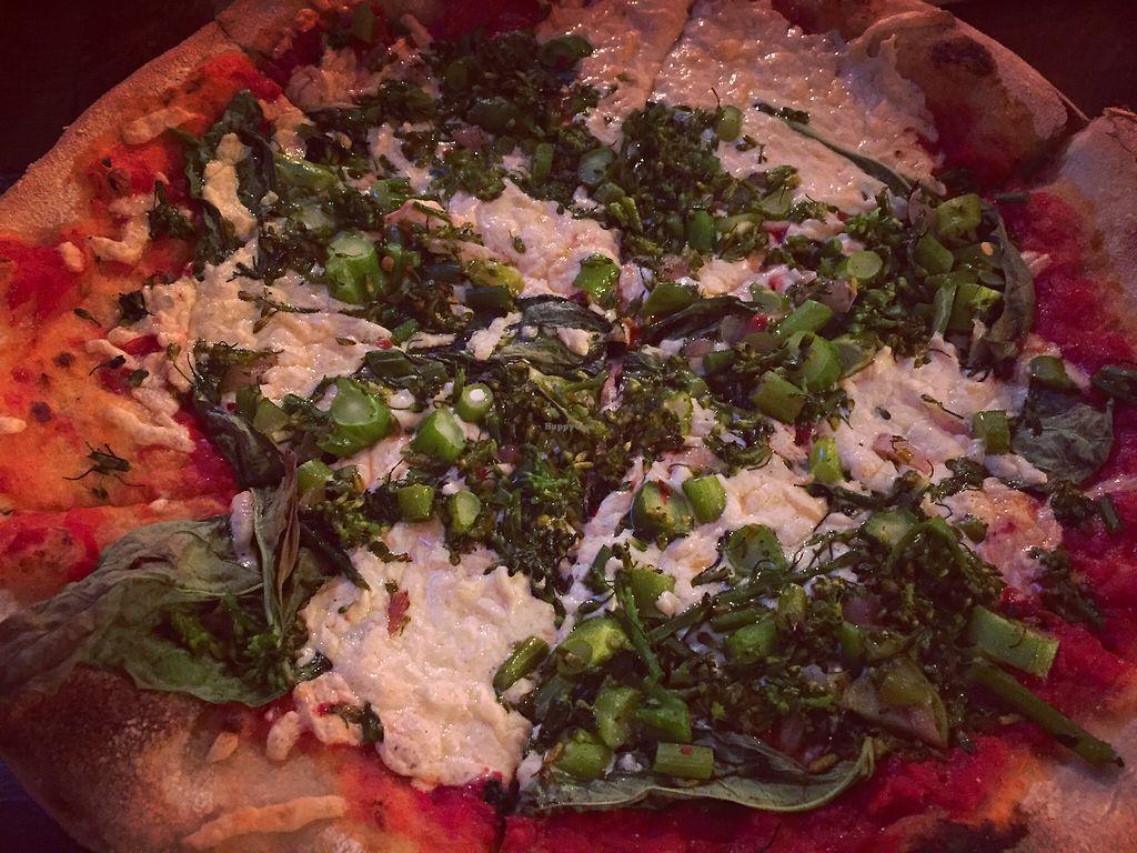 "Photo of Pitfire Pizza - Mar Vista  by <a href=""/members/profile/jergusko"">jergusko</a> <br/>Broccolini pizza with vegan mozzarella <br/> October 24, 2017  - <a href='/contact/abuse/image/92850/318279'>Report</a>"