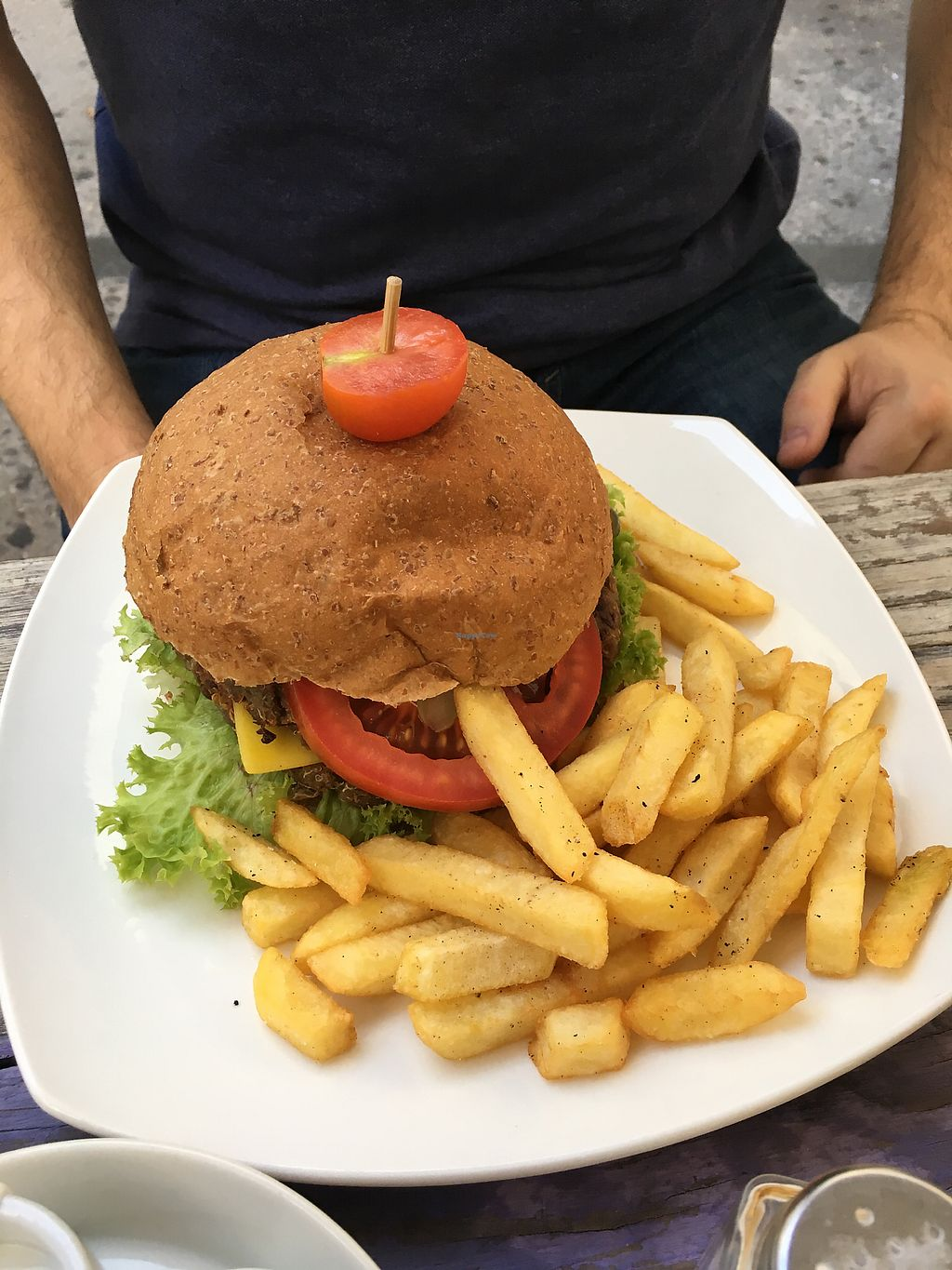 """Photo of Katako Veg  by <a href=""""/members/profile/AimeeS"""">AimeeS</a> <br/>Upa Laia burger with fries <br/> November 28, 2017  - <a href='/contact/abuse/image/92851/330010'>Report</a>"""