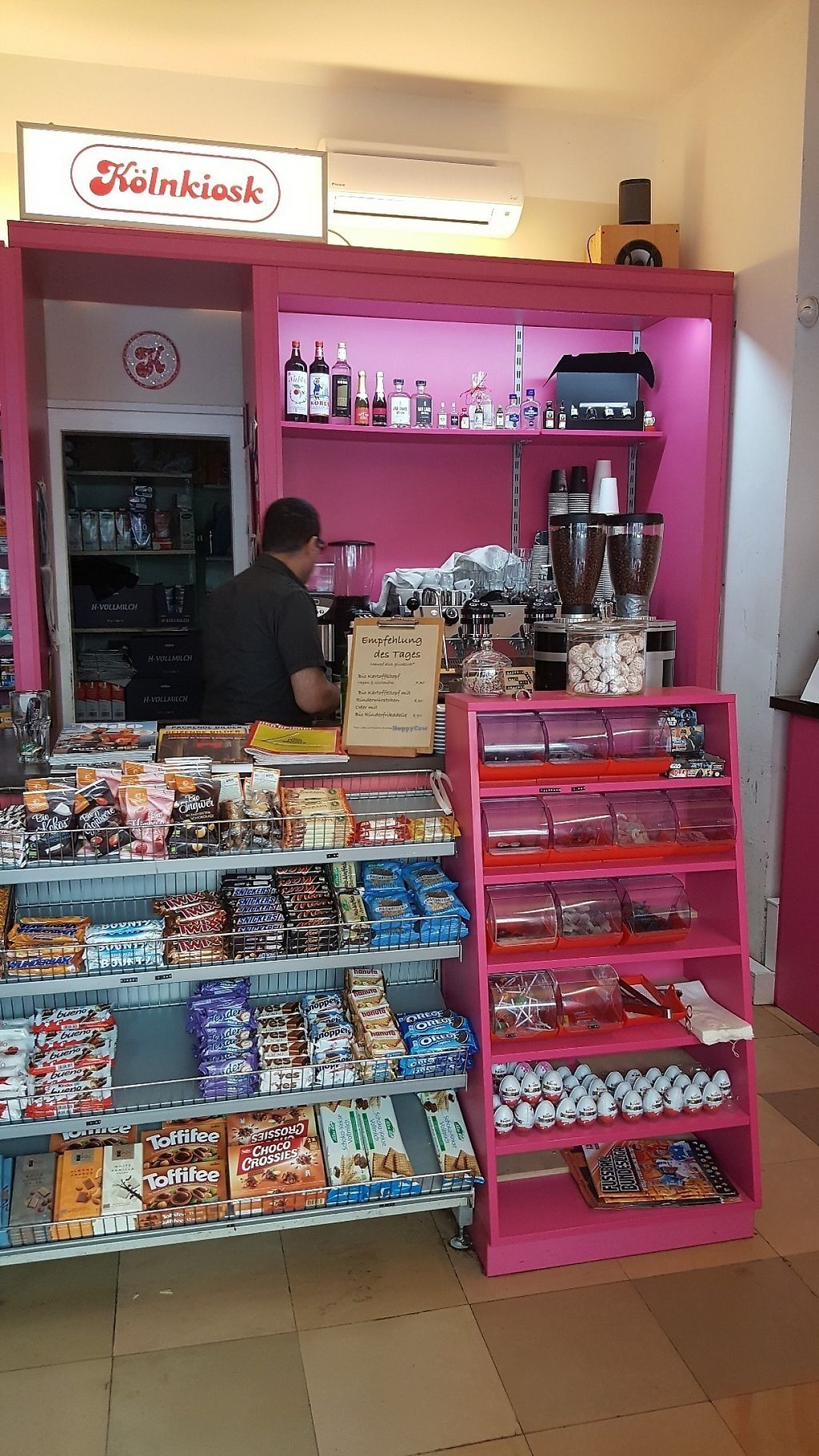 """Photo of Koln Kiosk  by <a href=""""/members/profile/TinaEstrella"""">TinaEstrella</a> <br/>Coffee bar and typical Cologne Büdchen Kiosk <br/> May 29, 2017  - <a href='/contact/abuse/image/92864/263702'>Report</a>"""