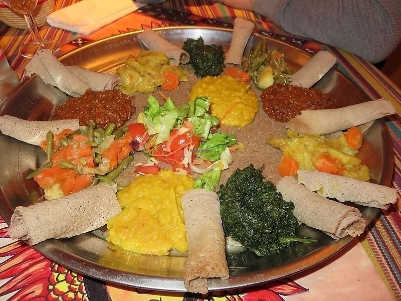 """Photo of House of Lalibela  by <a href=""""/members/profile/TrudiBruges"""">TrudiBruges</a> <br/>Mixed platter for two, 40€. House of Lalibela, Louvain <br/> September 25, 2017  - <a href='/contact/abuse/image/92868/308213'>Report</a>"""
