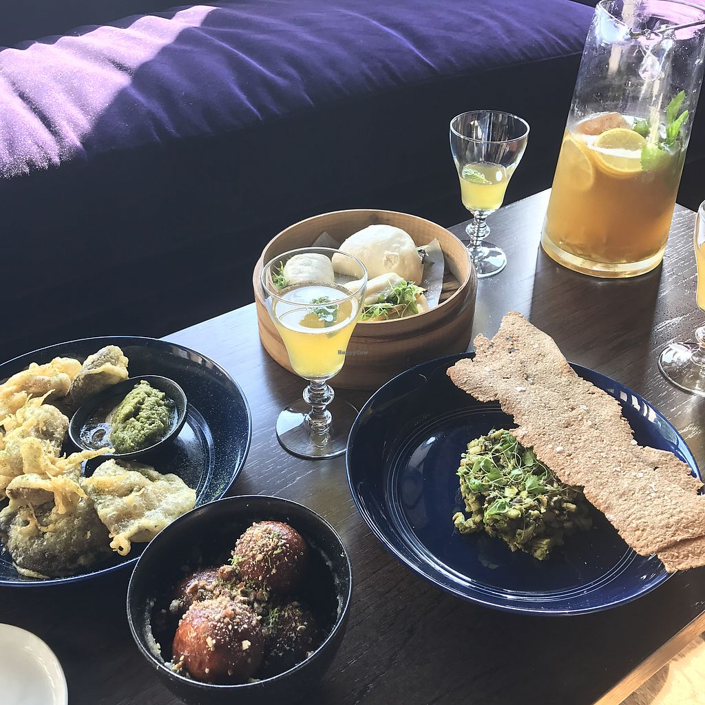 """Photo of West Main Crafting Co  by <a href=""""/members/profile/LuckyDogLex"""">LuckyDogLex</a> <br/>shiitake tempura and tartare, grilled carrot ginger miso bao buns, cinnamon bourbon donuts <br/> May 26, 2017  - <a href='/contact/abuse/image/92876/262707'>Report</a>"""