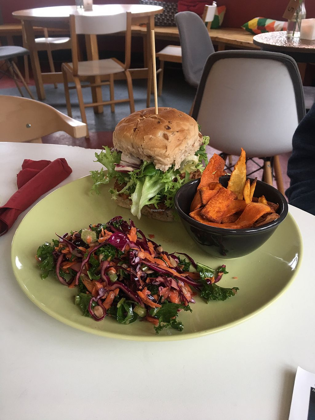 """Photo of The Old Red Bus Station  by <a href=""""/members/profile/CindyGomez"""">CindyGomez</a> <br/>Pulled Jackfruit Burger served with a Smoked BBQ Sauce <br/> June 28, 2017  - <a href='/contact/abuse/image/92881/274267'>Report</a>"""