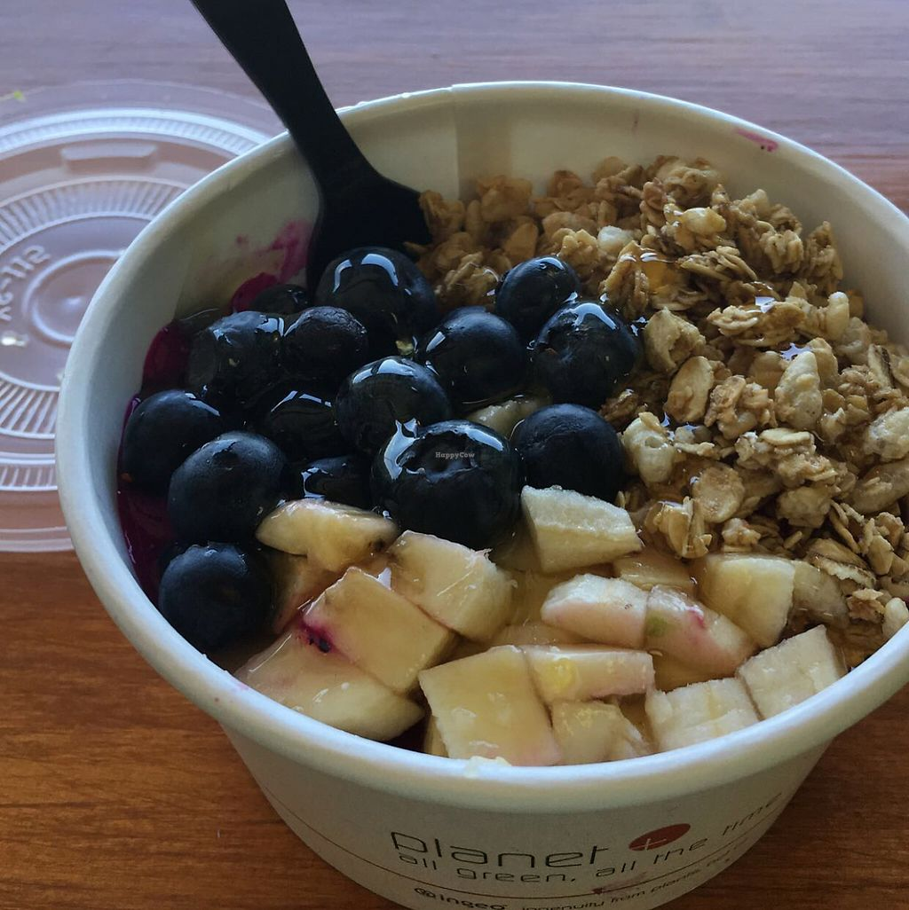 "Photo of JuiceVibes  by <a href=""/members/profile/KelseyHawkins"">KelseyHawkins</a> <br/>Pitaya bowl with blueberries, bananas, and granola <br/> May 28, 2017  - <a href='/contact/abuse/image/92902/263211'>Report</a>"