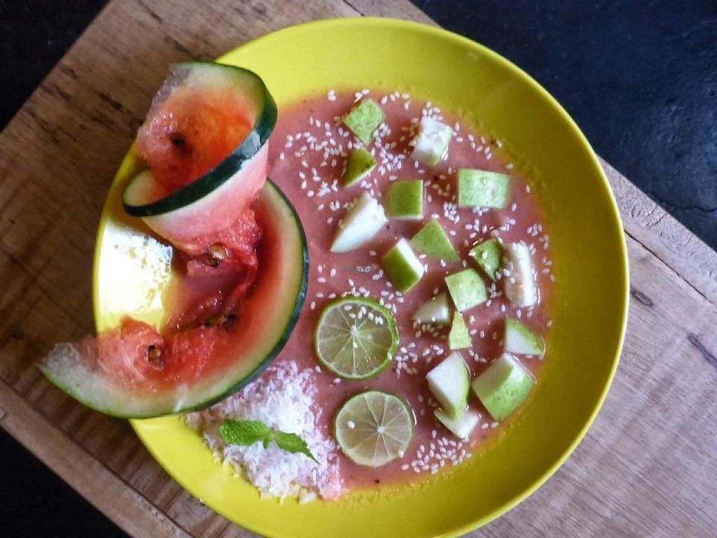 """Photo of Cafe Secret Alley  by <a href=""""/members/profile/community5"""">community5</a> <br/>Melon smoothie bowl <br/> May 27, 2017  - <a href='/contact/abuse/image/92904/263101'>Report</a>"""