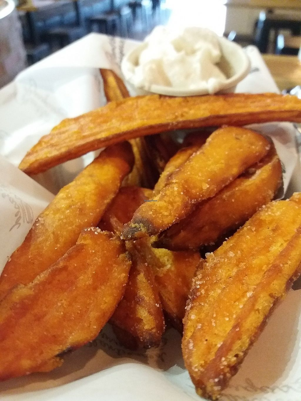"""Photo of Soul Burger  by <a href=""""/members/profile/veganvirtues"""">veganvirtues</a> <br/>Kumara Fries <br/> June 8, 2017  - <a href='/contact/abuse/image/92906/266844'>Report</a>"""