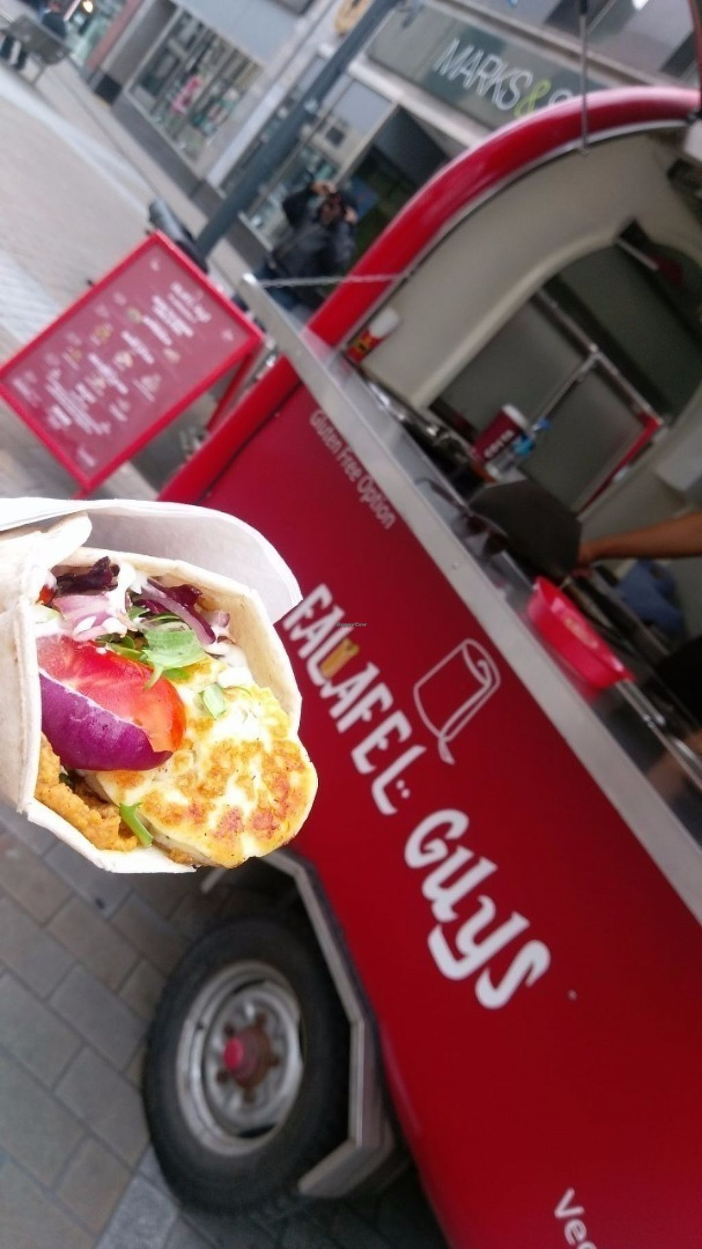 "Photo of Falafel Guys - Food Truck  by <a href=""/members/profile/RR999"">RR999</a> <br/>Halloumi wrap! <br/> May 30, 2017  - <a href='/contact/abuse/image/92914/264185'>Report</a>"