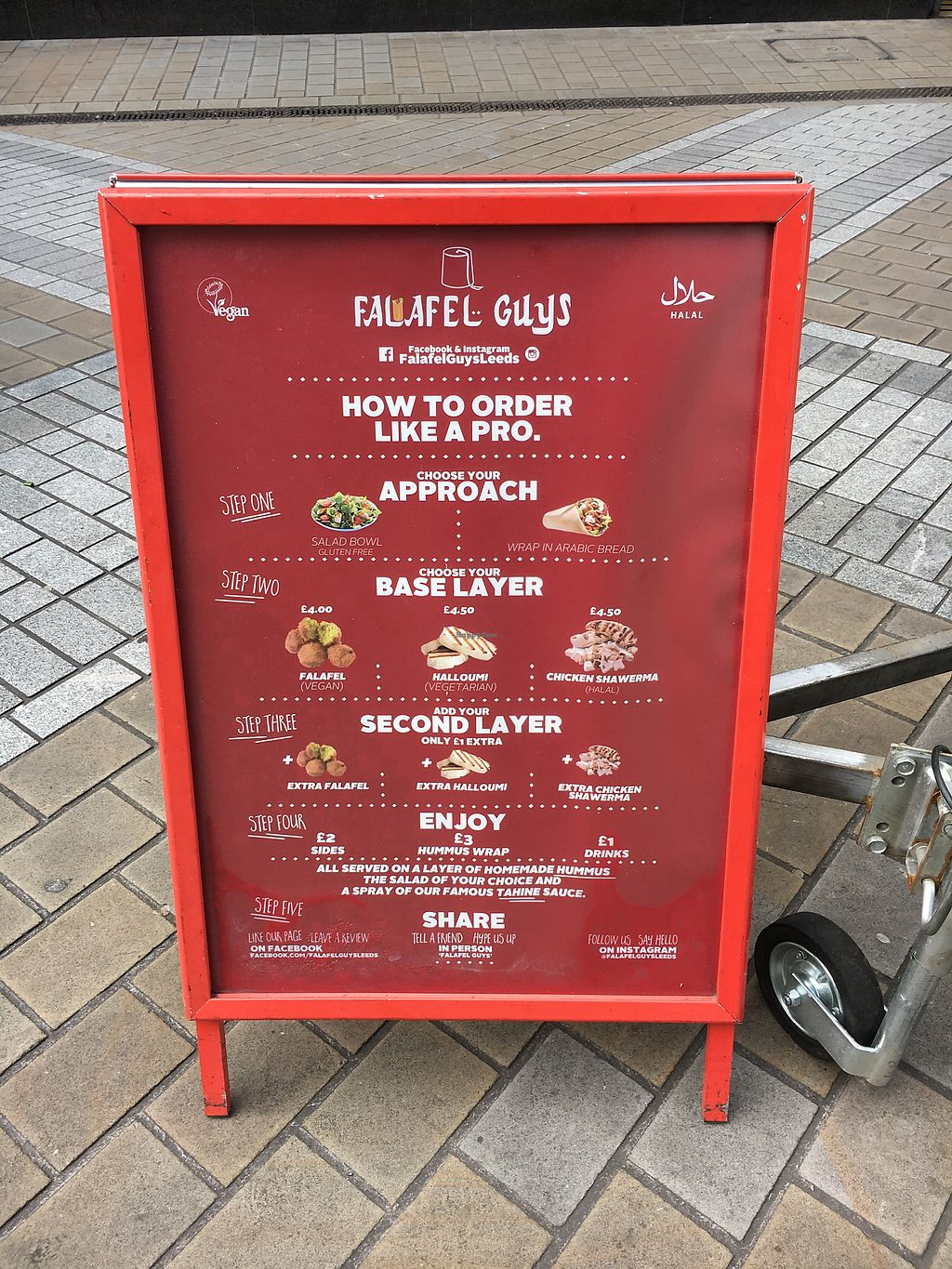 "Photo of Falafel Guys - Food Truck  by <a href=""/members/profile/hack_man"">hack_man</a> <br/>menu  <br/> August 4, 2017  - <a href='/contact/abuse/image/92914/288639'>Report</a>"