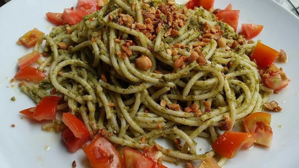 "Photo of Indah Cafe  by <a href=""/members/profile/IndahHouseKuching"">IndahHouseKuching</a> <br/>Pesto pasta. Made with two types of basil leaves.  <br/> May 30, 2017  - <a href='/contact/abuse/image/92925/264082'>Report</a>"