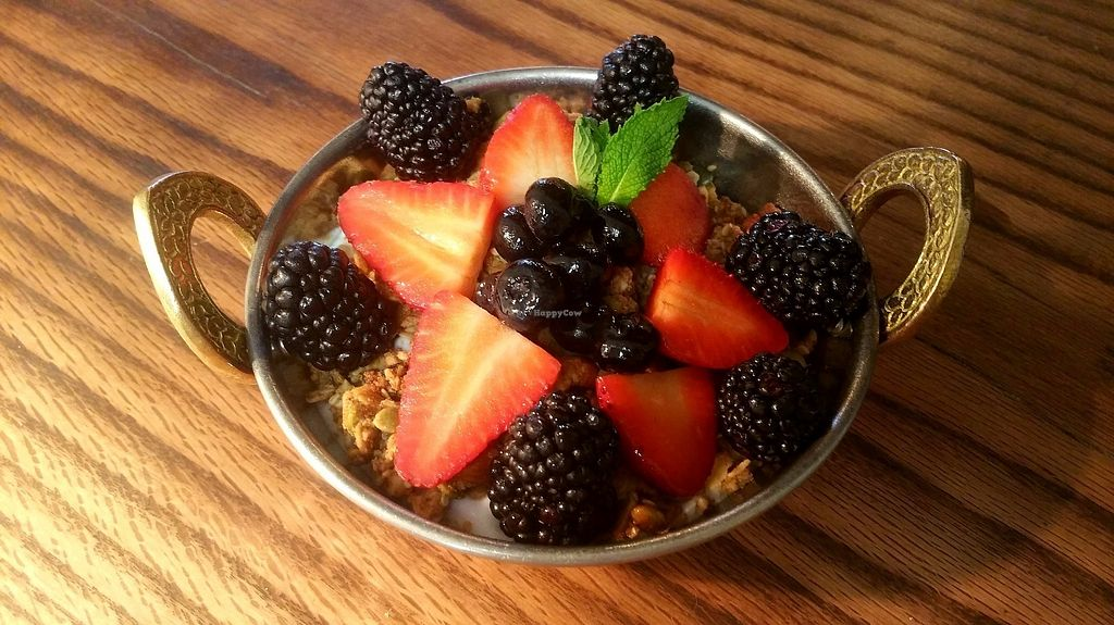 "Photo of Surya Cafe  by <a href=""/members/profile/LaurenM"">LaurenM</a> <br/>Seeds of Change granola with coconut yogurt and fresh berries <br/> June 8, 2017  - <a href='/contact/abuse/image/92932/266815'>Report</a>"