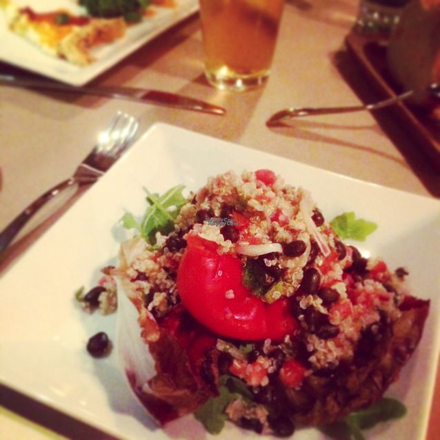 """Photo of Tip Top Cafe  by <a href=""""/members/profile/RosaL"""">RosaL</a> <br/>Bell pepper stuffed with quinoa and black beans <br/> October 14, 2016  - <a href='/contact/abuse/image/9293/181976'>Report</a>"""