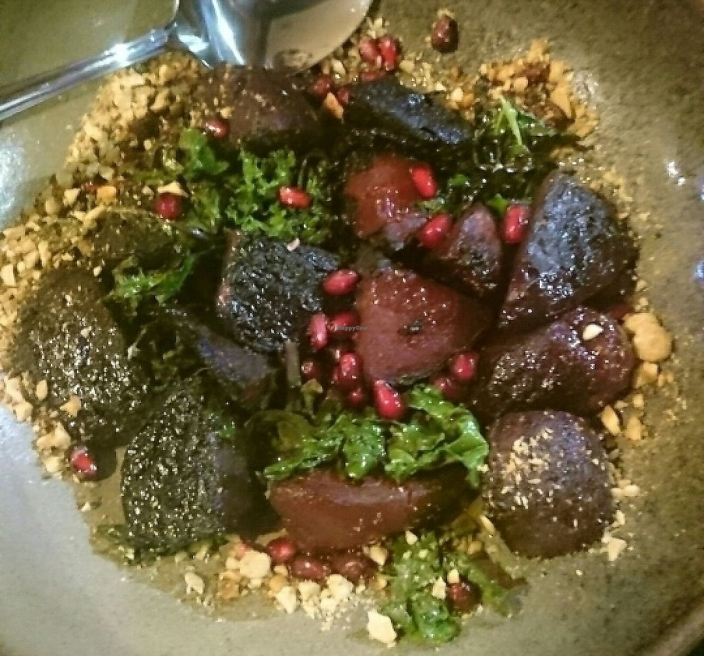 "Photo of Manuka Woodfire Kitchen  by <a href=""/members/profile/Cynthia1998"">Cynthia1998</a> <br/>woodfired beetroot with kale, pomegranate, balsamic and nuts <br/> May 28, 2017  - <a href='/contact/abuse/image/92961/270622'>Report</a>"