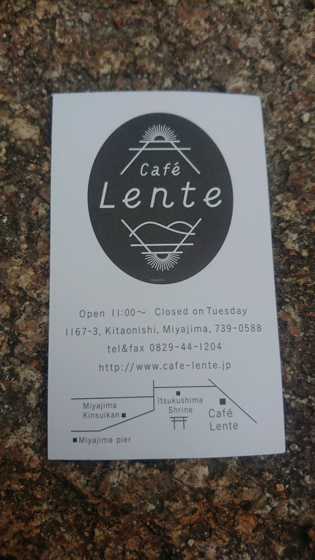 "Photo of Cafe Lente  by <a href=""/members/profile/EmmaIn86"">EmmaIn86</a> <br/>Cafe Lente business card <br/> November 26, 2017  - <a href='/contact/abuse/image/92986/329282'>Report</a>"