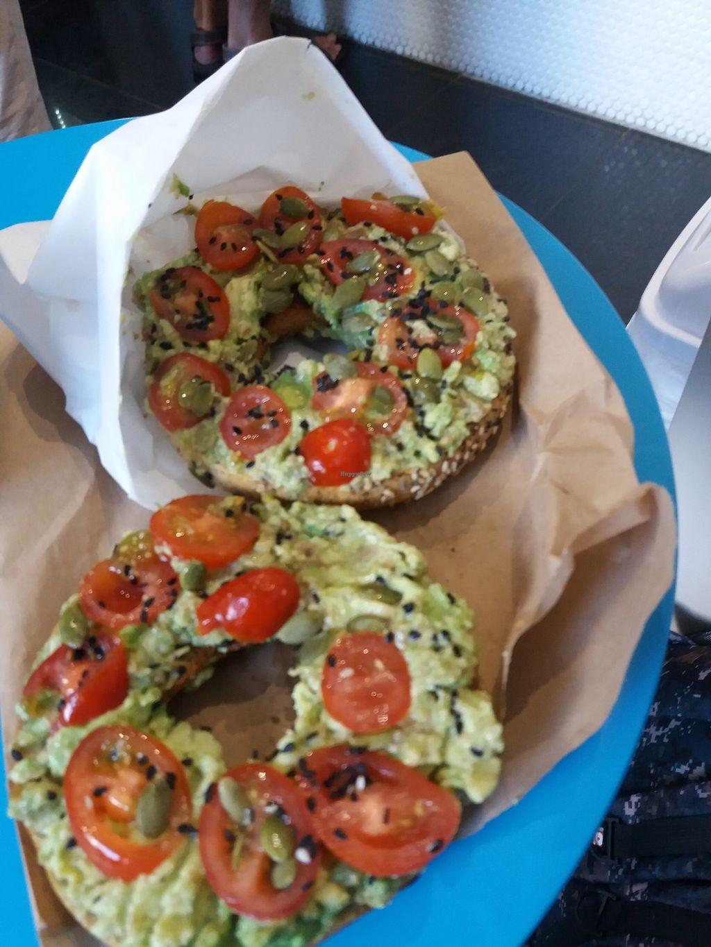 "Photo of Smoothme Superfood Bar  by <a href=""/members/profile/veganvirtues"">veganvirtues</a> <br/>Bagel with avocado, cherry toms wirh sunflower seeds <br/> November 12, 2017  - <a href='/contact/abuse/image/92987/324935'>Report</a>"