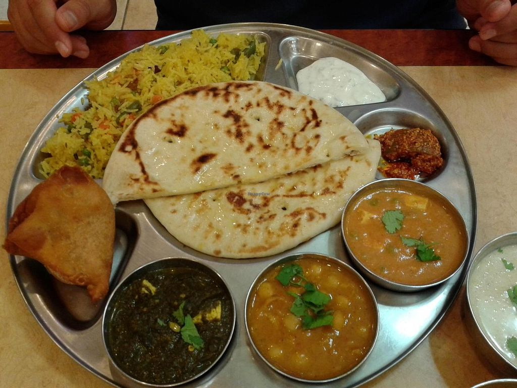 "Photo of Jay Bharat Market and Restaurant  by <a href=""/members/profile/chobesoy"">chobesoy</a> <br/>thali combo - super delish! <br/> September 26, 2014  - <a href='/contact/abuse/image/9298/81248'>Report</a>"