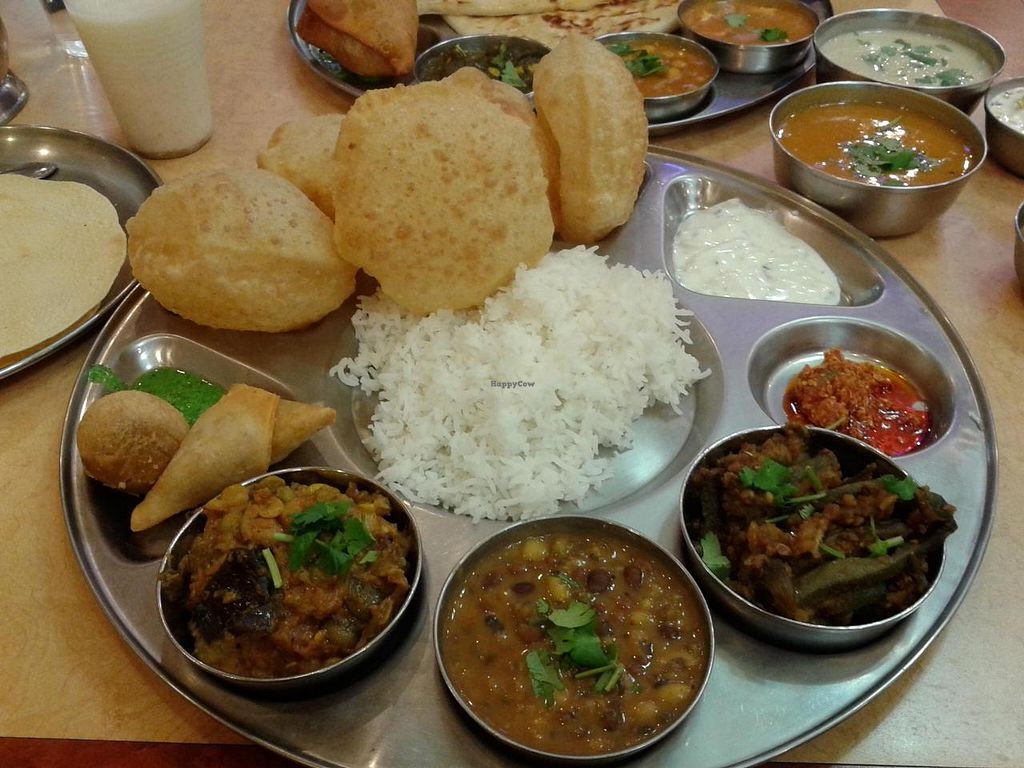 "Photo of Jay Bharat Market and Restaurant  by <a href=""/members/profile/chobesoy"">chobesoy</a> <br/>thali combo - super delish! <br/> September 26, 2014  - <a href='/contact/abuse/image/9298/81249'>Report</a>"