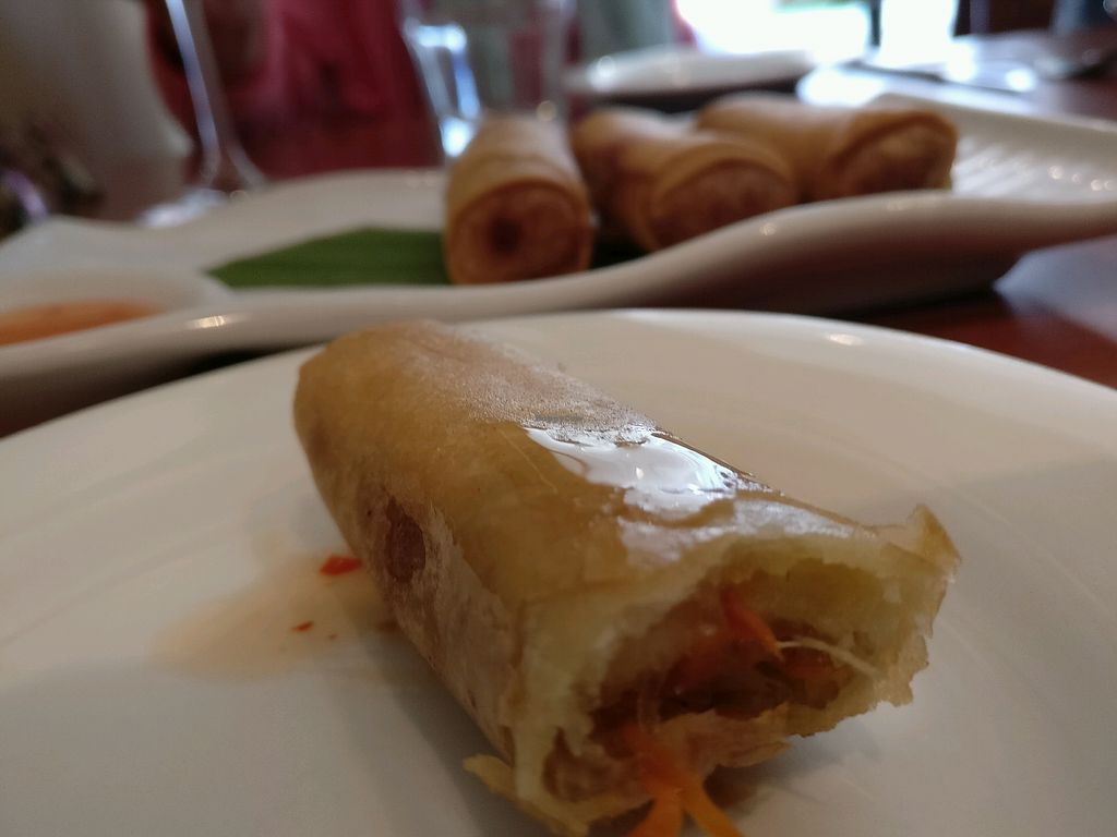 """Photo of Brown Grain Thai Restaurant  by <a href=""""/members/profile/Aloo"""">Aloo</a> <br/>spring roll <br/> February 17, 2018  - <a href='/contact/abuse/image/92991/360262'>Report</a>"""