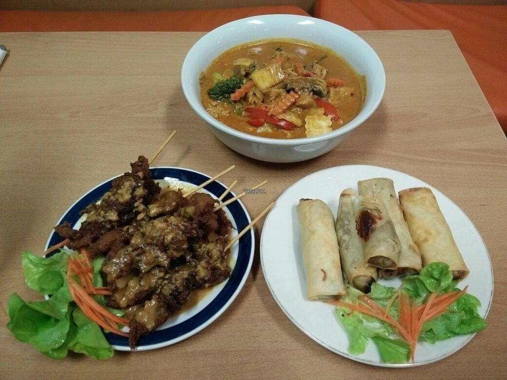 """Photo of CLOSED: Peace Harmony - Erskine St  by <a href=""""/members/profile/HannaGolingi"""">HannaGolingi</a> <br/>Satay sticks, spring rolls, and a very rich laksa <br/> September 26, 2016  - <a href='/contact/abuse/image/9301/178015'>Report</a>"""