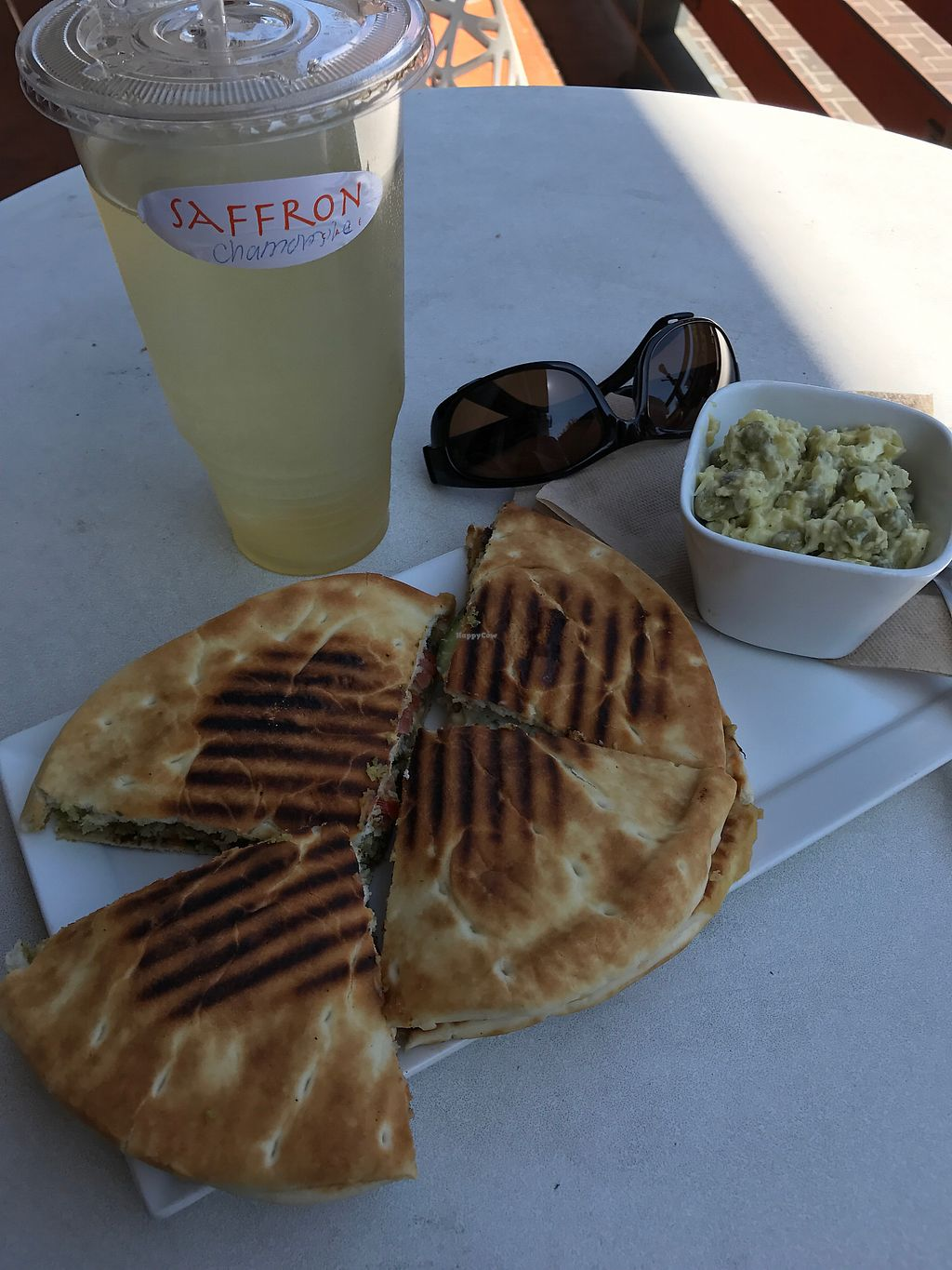 """Photo of Saffron Cafe  by <a href=""""/members/profile/LaryH"""">LaryH</a> <br/>The Mediterranean sandwich  <br/> September 1, 2017  - <a href='/contact/abuse/image/93023/299546'>Report</a>"""
