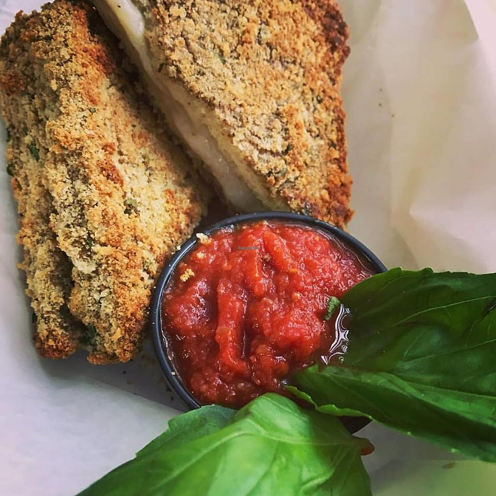 "Photo of Three Girls Vegan Creamery  by <a href=""/members/profile/ThreeGirlsVegan"">ThreeGirlsVegan</a> <br/>Vegan Mozzarella en Carrozza Sandwich <br/> May 29, 2017  - <a href='/contact/abuse/image/93059/263881'>Report</a>"