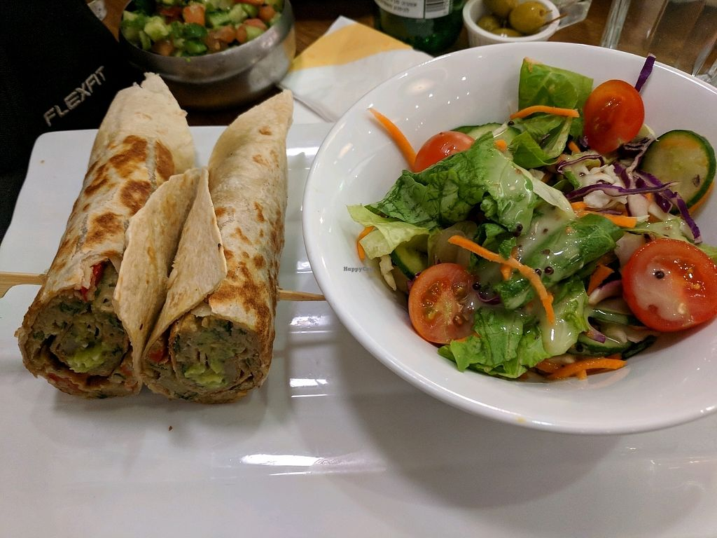 """Photo of Cafe Greg  by <a href=""""/members/profile/NJ220"""">NJ220</a> <br/>The chickpea omlette in a wrap.  <br/> March 7, 2018  - <a href='/contact/abuse/image/93062/367815'>Report</a>"""