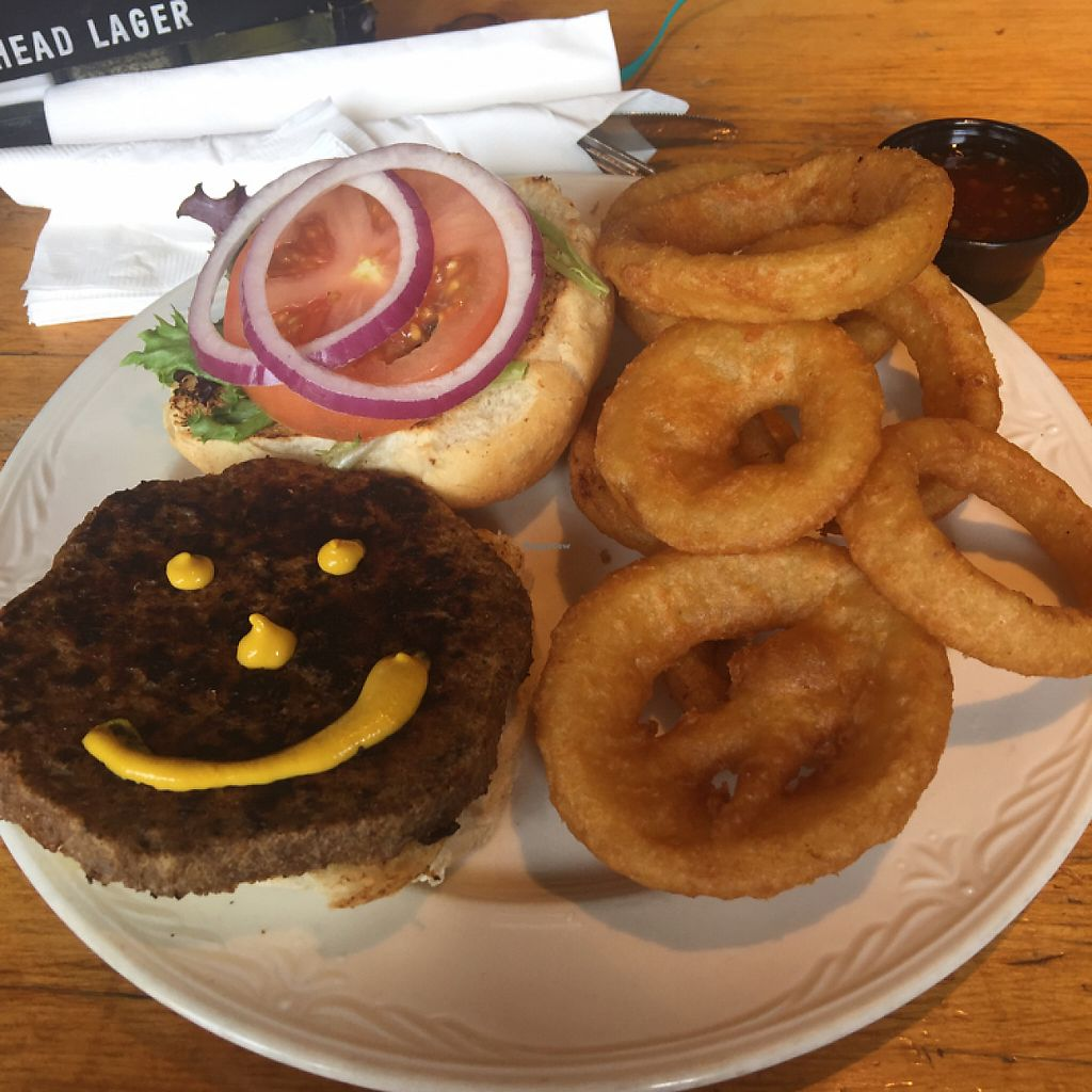 Photo of Taps On Queen Brewhouse & Grill  by AshleeMichelle <br/>veggie burger :)  <br/> May 31, 2017  - <a href='/contact/abuse/image/93073/264401'>Report</a>