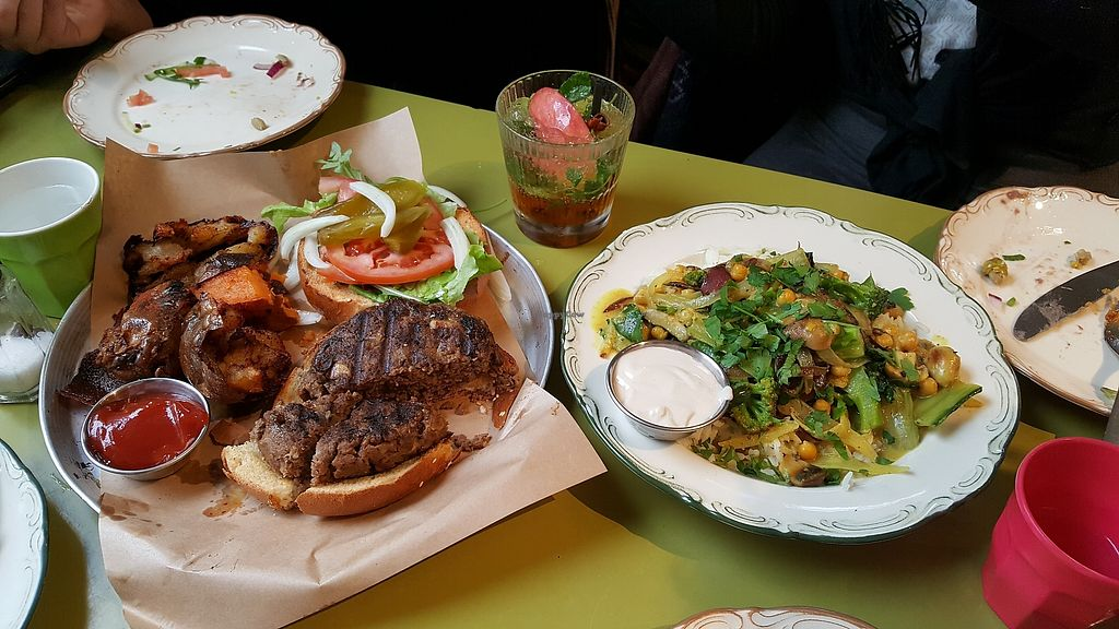 "Photo of Cafe Michaelangelo  by <a href=""/members/profile/AbigailS"">AbigailS</a> <br/> Vegan burger <br/> March 7, 2018  - <a href='/contact/abuse/image/93097/367753'>Report</a>"