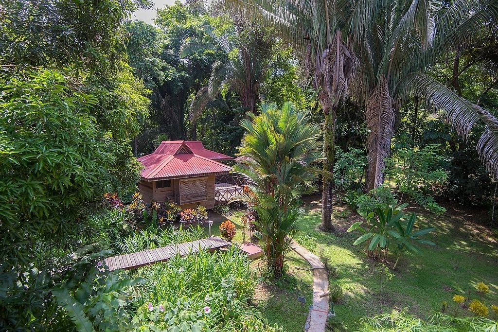 "Photo of El Mono Feliz  by <a href=""/members/profile/PatrickGrady"">PatrickGrady</a> <br/>Our bungalow villas nestled in the heart of our jungle gardens. each has a private bath and even a small kitchen.  Our property is on a beautiful river, and has a newly refurbished outdoor pool for every day of the year (it's never cold in Costa Rica).  <br/> May 30, 2017  - <a href='/contact/abuse/image/93103/264274'>Report</a>"